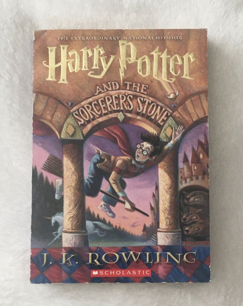 Harry Potter & the Sorcerer's Stone by JK Rowling (used paperback)