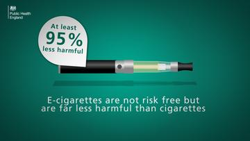 Myth - The nicotine in vaping products makes them as dangerous as smoking