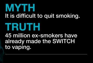 Myth - Vaping products aren't effective for quiting smoking