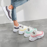 Kuselle Striped Breathable Lace Up Stylish Sneakers