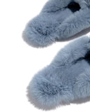 Kuselle Square Toe Fur Slip-on Winter Slippers