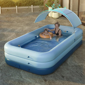 Kuselle PVC Wireless Automatic Inflatable Swimming Pool Children's Adult Swimming Pool Garden