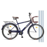 Kuselle Adult Cruiser Bike 26-inch Wheels, Single 6 Speeds, Multiple Colors