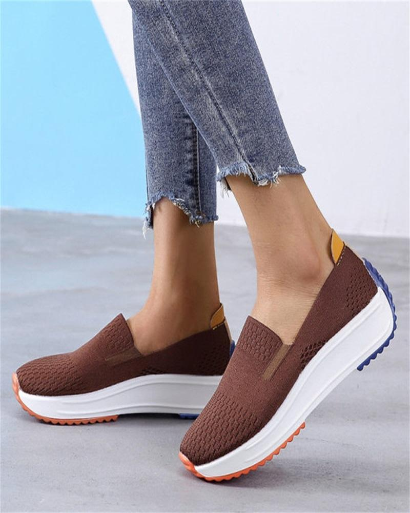 Kuselle Flying Woven Comfortable Casual Sneakers