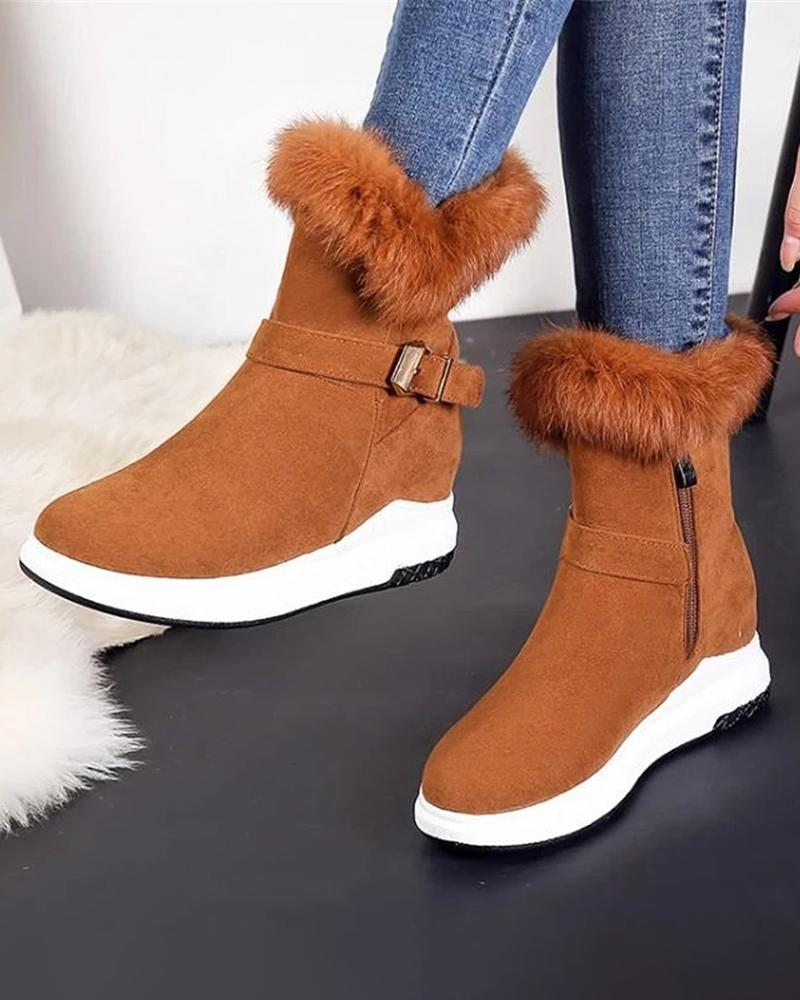 Kuselle flat bottom snow thermal cotton boots