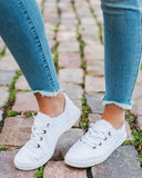 Kuselle Classic Lace Up Casual Canvas Flat Sneakers