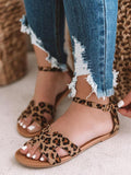 Kuselle Cutout Open Toe Flat Sandals