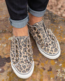 Kuselle Laceless Frayed Slip On Vintage Sneakers