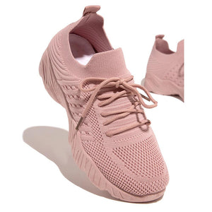 Kuselle Women Lace Up Breathable Fashion Comfort Sneaker Shoes