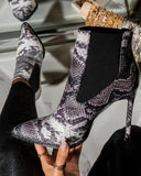 Kuselle Pointed Toe Rhinestone Embellished Stiletto Ankle Boots