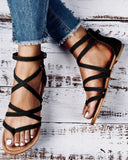 Kuselle Womens Casual Gladiator Sandals Strappy Thong Flats Shoes