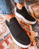 Kuselle Slip on Flats Elastic Breathable Flat Sneaker Shoes