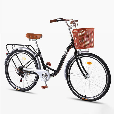 Kuselle 24-26 Inch Bicycle Women Adult Light Ordinary Adult Lady Commuter Bike