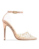 Kuselle Rivet Embellished Transparent Heels