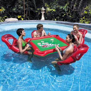 Kuselle Summer Water Inflatable One Table and Four Chairs Swimming Pool Float