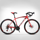 Kuselle 26inch Mountain Bike 24 Speed Full Suspension Road Bikes with Disc Brakes