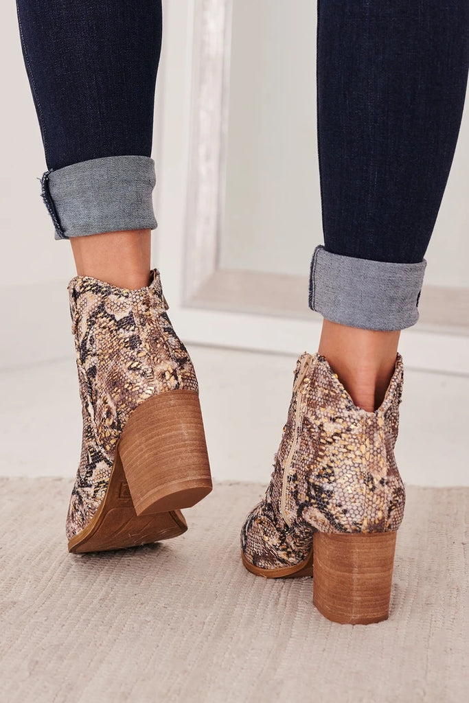 Kuselle Ankle Boots Heeled Cutout Booties