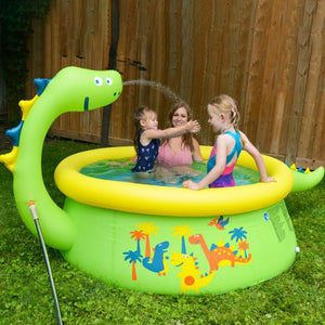 Kuselle Fun Dinosaur Water Sprayer Inflatable Swimming Pool
