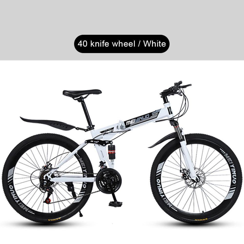 Kuselle Mountain Bike Shock Absorber 26 inch Variable Speed Folding Bicycle