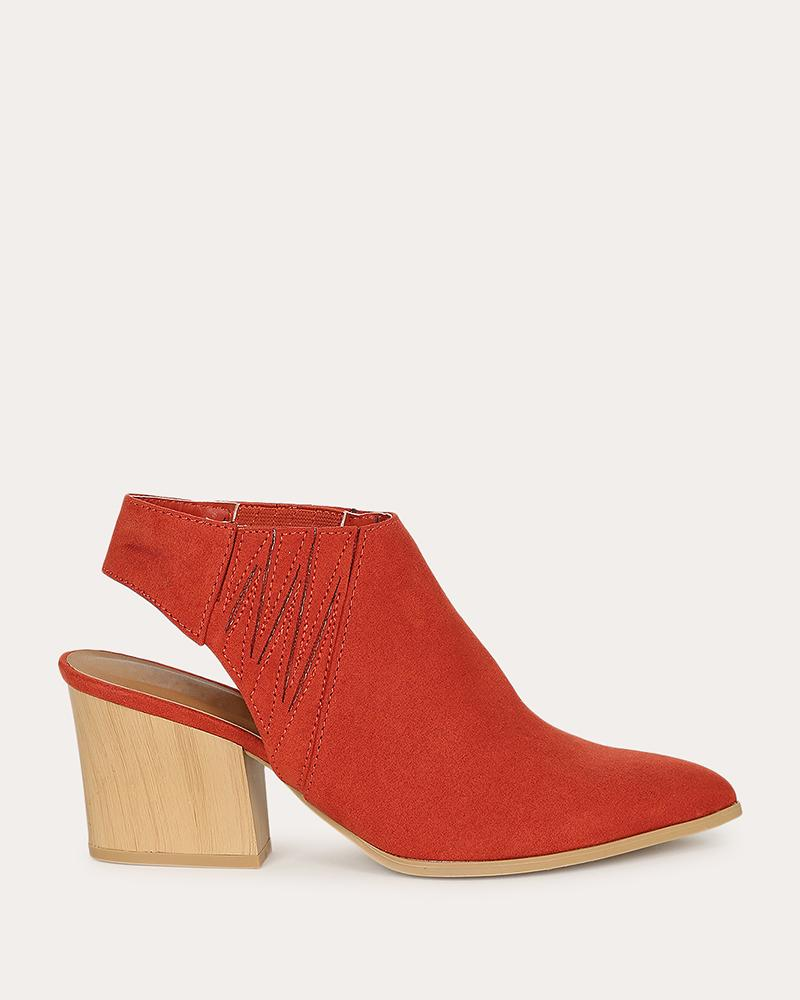 Kuselle Pointed Toe Ankle-strap Slingback Booties