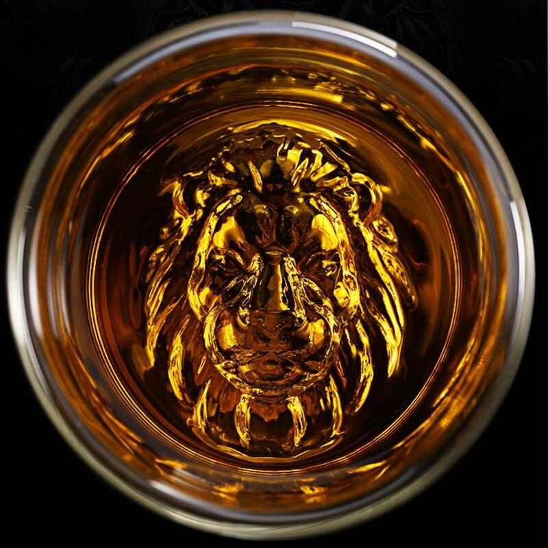 Whiskey Glass Lion