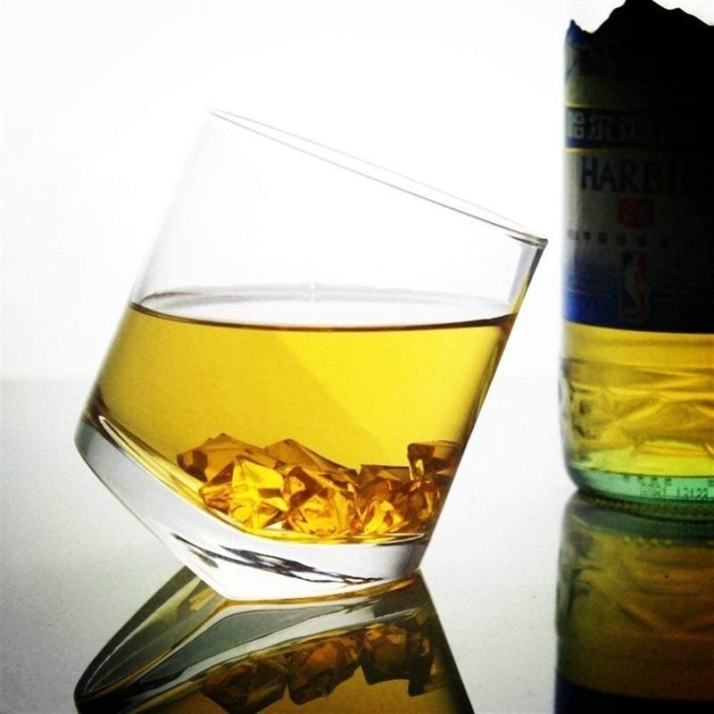 Leaning Whiskey Glass