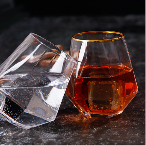 Lutande Drinkglas Hexagon