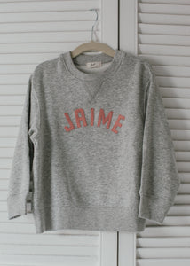 Kids Name Sweatshirt - Curved