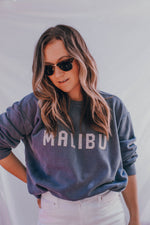 Load image into Gallery viewer, Embroidered Crewneck Sweatshirt - Malibu