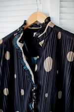 Load image into Gallery viewer, Polkadot Pleated Vintage Dress
