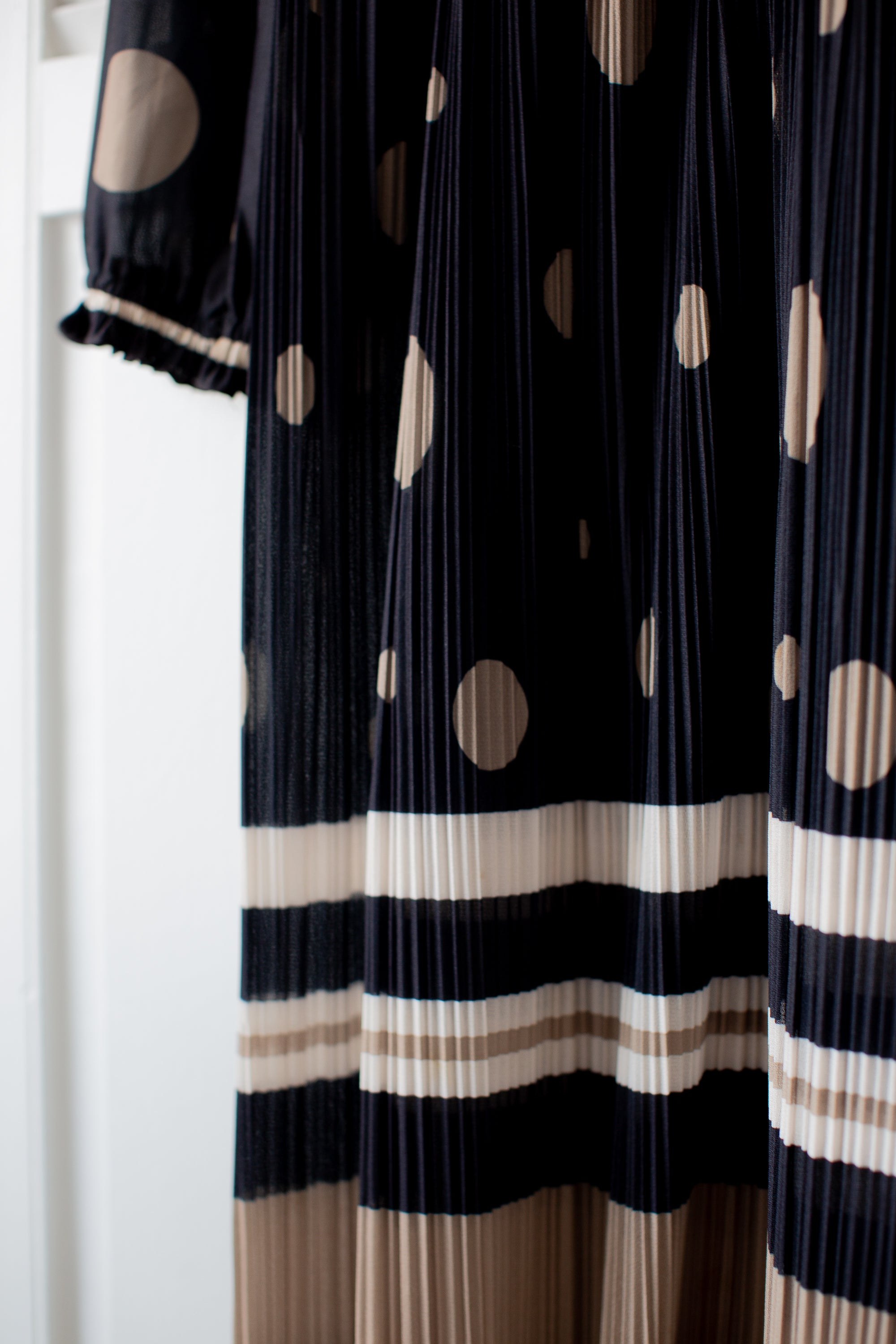Polkadot Pleated Vintage Dress