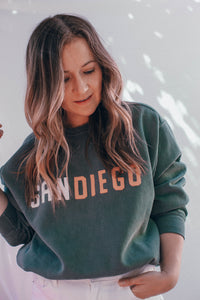 Embroidered Crewneck Sweatshirt - San Diego
