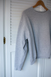 Vintage Cropped Sweatshirt : Grey