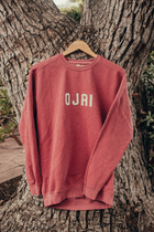 Embroidered Crewneck Sweatshirt - Ojai, CA