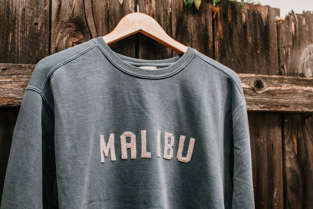 Embroidered Crewneck Sweatshirt - Malibu 1