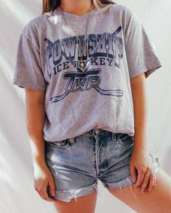 Vintage Tee : Ice Hockey Grey Tee Shirt