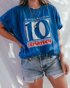 Vintage Tee : Tech Blue Tee Shirt