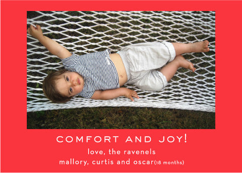 comfort and joy red