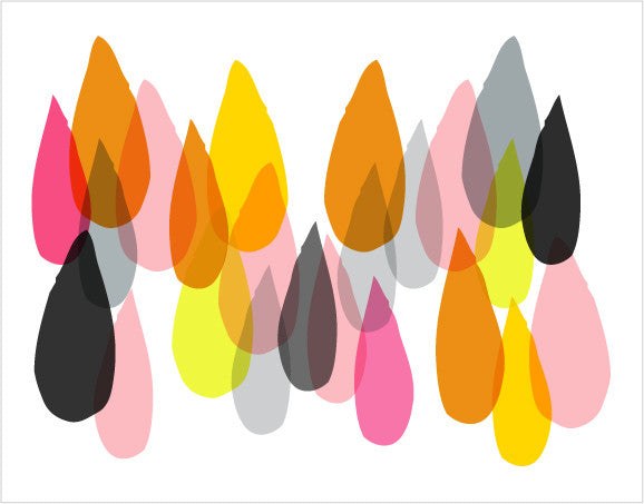 grey pink orange drops - tina j studio
