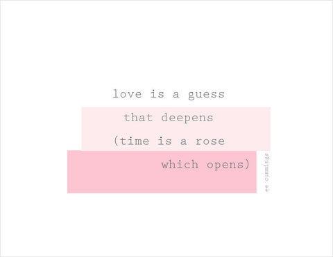 love is a guess folded card