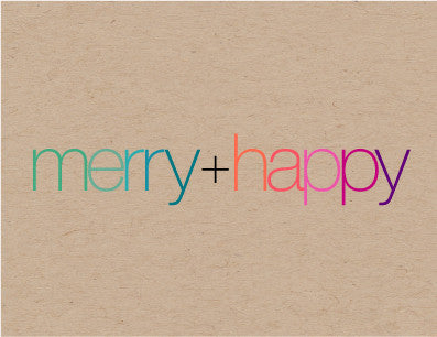 merry+happy kraft - tina j studio