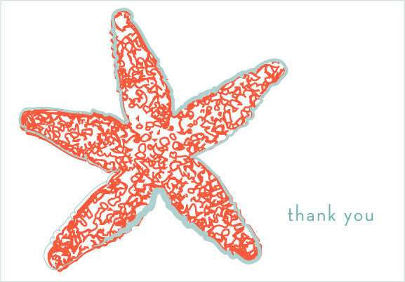 starfish thank you - tina j studio