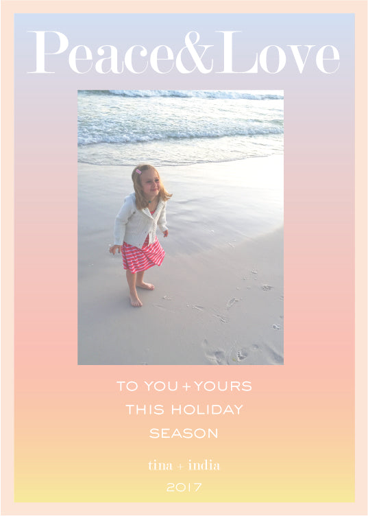 sunset ombre photo card