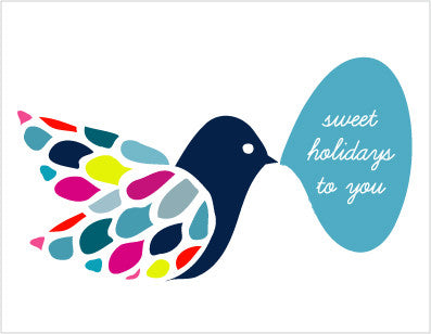 sweet holidays bird - tina j studio
