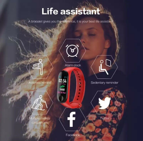 Fitness watch is life assistant call reminder, message reminder, hydration reminder, sleep monitoring, sedentary reminder, alarm clock