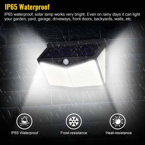 EZ Tech 208 LED Solar-Powered Lights is water proof heat resistant and frost resistant