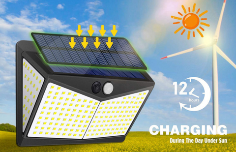 Use the sun's solar light to charge the EZ Tech 208 LED Solar-Powered Lights