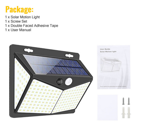 EZ Tech 208 LED Solar-Powered Lights package contents