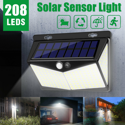 Solar Sensor Motion Light for garage driveway and yard