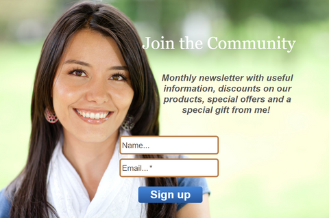newsletter sign up pretty woman smiling